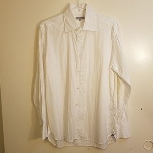 TED BAKER Cotton White Textured Stripe Shirt
